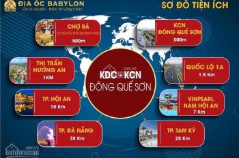 Đất ở Quảng Nam giá rẻ dự án KCN Đông Quế Sơn còn 1 lô cuối cùng thửa số 124, diện tích KV: 256,8m2