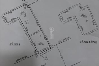 Chính chủ bán nhà 2 mặt tiền hẻm xe Tải 8m, Dương Bá Trạc P1, Q8, 74m2; 8tỷ