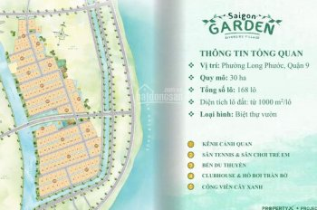 Nền biệt thự nhà vườn Sài Gòn Garden Q9 gần Vincity chỉ từ 14tr/m2, CK 18%, góp 5 năm 0938225535