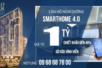 1 tỷ mua ngay căn hộ nghỉ dưỡng Quy Nhơn Grand Center chiết khấu đến 40% sổ hồng lâu dài 0968687800