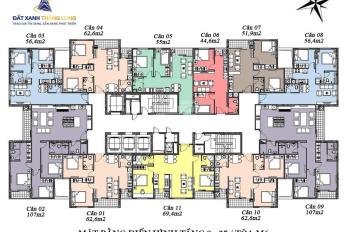 Căn 05 M5 54m2 2PN, 1WC, Mipec Hà Đông, View nội khu, Giá 984TR, Bao toàn bộ thuế phí!