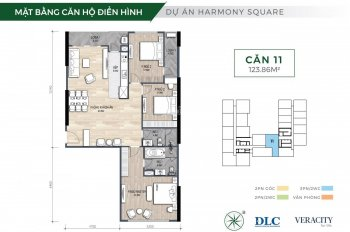 Căn rộng nhất, đẹp nhất dự án Harmony Square 124m2/ 3,4 tỷ/ view 3 hướng toàn thành phố, LS 0% 12th