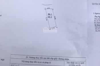 Bán đất thổ cư Tả Thanh Oai, 46,2m2, giá 31tr/m2, vị trí rất đẹp - ngay trường CĐ Kinh Tế