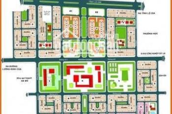 cần bán lô đất góc hai mặt  tiền dự án huy hoàng q2, lô f  dt 9,2x20 m giá 130tr/m    sổ đỏ cá nhân