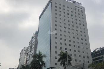 Cho thuê mặt bằng chân tòa nhà CMC Tower phố Duy Tân, Cầu Giấy. MT trên 15m, lô góc siêu thoáng