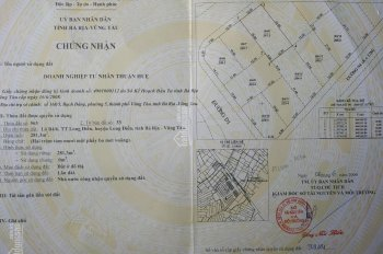 Chính chủ cần bán đất biệt thự DT 281m2 thị trấn Long Điền giá chỉ 8tr/m2