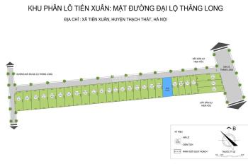 Mở bán đợt 1 - bán đất phân lô Thạch Thất - Hà Nội - ký hợp đồng công chứng