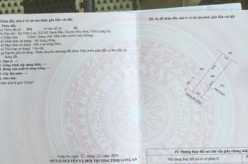 Bán đất nền thổ cư sổ hồng riêng diện tích 5x22m, ấp Tràm Lạc, xã Mỹ Hạnh Bắc huyện Đức Hòa