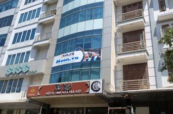 CC cho thuê nhà MP Trần Duy Hưng, DT 120m2 * 7 tầng, thông sàn, thang máy. Tiện kinh doanh 115tr/th
