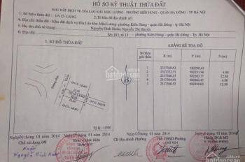 Chính chủ bán lô đất dịch vụ Đìa Lão, KĐT Kiến Hưng, Hà Đông, Hà Nội. LH: 0987826168