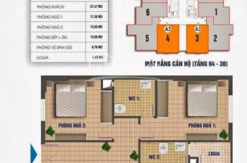 Bán sập sàn cắt lỗ tiền trăm căn hộ 83m2, 2PN tại Nam Xa La, TL sâu