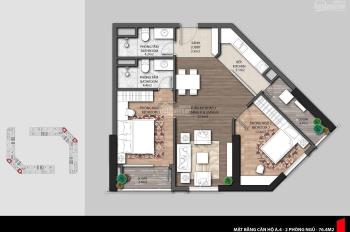 Bán căn hộ The Emerald CT8, 76m2 Nguyên bản CĐT, giá: 2.4 tỷ (bao phí), 0886171279