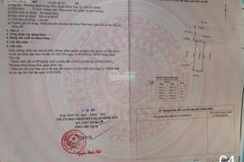Bán lô đất MT đường số 15, Bình Hưng Hòa, Bình Tân, có sổ đỏ riêng, DT 57m2, giá 3,6tỷ, hỗ trợ vay