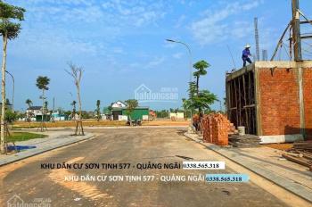 Bán đất khu dân cư 577-mặt tiền đường 20,5m-view hồ sinh thái-giá chỉ 826tr- lh 0338565318
