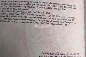 Nhà MT Trường Chinh, P. Tân Hưng Thuận, Q12, DT 340m2