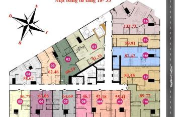 Chính chủ bán chung cư Tháp Doanh Nhân, căn 06, DT 63m2, giá 1.470 tỷ, LH 0904516638