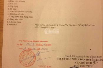 Bán đất thổ cư giá rẻ chính chủ tại Thanh Trì
