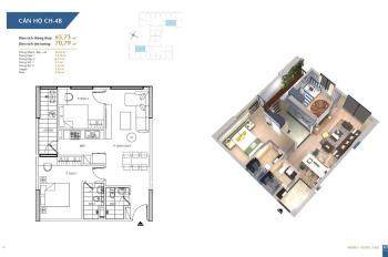 LH: 0902227009. Cần bán căn hộ 65m2 chung cư Hà Nội Homeland, 2PN 2VS, ban công ĐN, giá: 1,5 tỷ