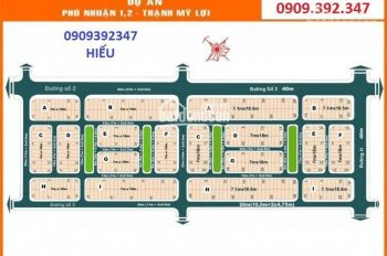 Chính chủ cần bán lô đất dự án Phú Nhuận 2, p. TML q2, đường 40m, TVB, DT 7x18,5m giá 152tr/m2