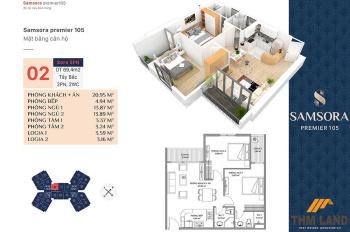 Cần bán căn hoa hậu 2PN, ở dự án Samsora Premier 105 Chu Văn An, với giá 1.9 tỷ. LH: 08897 123 11