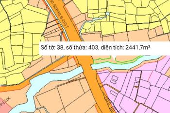 BÁN ĐẤT MT QL51 NGAY TRẠM THU PHÍ, 2.5 SÀO GIÁ 3.25 TR/M2