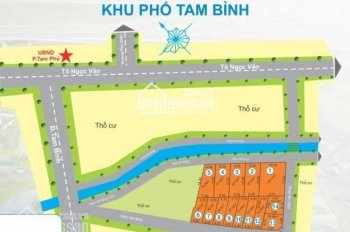 Bán đất nền dự án Tam Bình 2 phường Tam Phú, Thủ Đức. DT 4.5x18=81m2/1tỷ250tr. LH 0765369976 Trúc