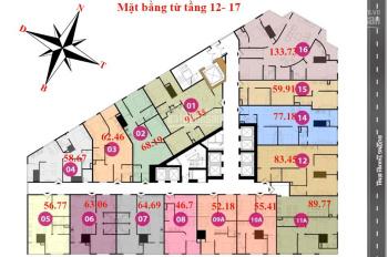Bán suất ngoại giao Tháp Doanh Nhân Hà Đông, 56,56m2 tầng đẹp giá từ 1,3 tỷ/căn LH 0986324253
