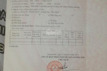 Bán đất tại thôn Đồng Si, xã Nhuận Trạch, huyện Lương Sơn, tỉnh Hòa Bình. LH 0979846060