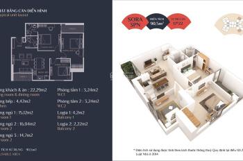 Bán căn hoa hậu 3PN đẹp nhất dự án, rẻ hơn giá CĐT 500tr. LH: 0889712311