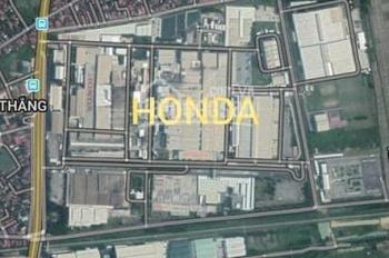 Bán ô đất có sổ đỏ gần Honda, mặt đường đôi, LH 0334.688.883