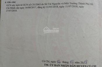 Bán đất Củ Chi cách UBND xã Bình Mỹ 500m, sổ hồng riêng, DT 85m2 giá 1,28 tỷ