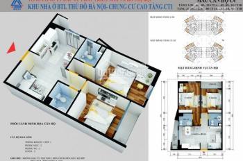 LH: 0962251630 cần bán căn góc 2PN 2VS ban công TN, rộng 62m2 chung cư CT1 Yên Nghĩa 15,8 tr/m2