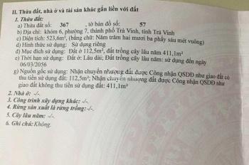 Bán đất đường Điện Biên Phủ gần chợ mới Trà Vinh. Lh 0919026588 chính chủ
