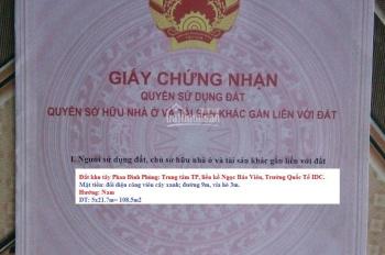 Bán đất thổ Tây Phan Đình Phùng - Ngọc Bảo Viên - TP Quảng Ngãi