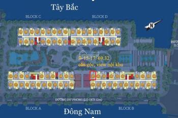 Ký HĐ trực tiếp CĐT, B-15-17 căn góc Tây Bắc view nội khu dự án Him Lam Phú An, giá 2.254tỷ.