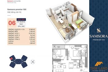 Bán căn hộ 2 PN rẻ hơn giá cđt 200tr. LH: 0889712311