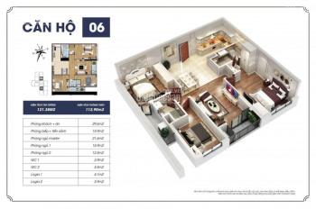 Bán căn hộ 112m2, 3 phòng ngủ giá 3.1 tỷ, ban công mát, kí trực tiếp chủ đầu tư, nhận nhà ngay