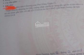 Bán lô 65m2, đường N1, Phú Hồng Thịnh, Dĩ An, 4x16m, sổ hồng giá 2 tỷ