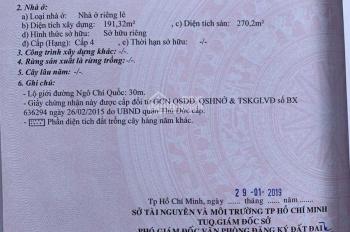 Bán mặt tiền 145 Ngô Chí Quốc, Bình Chiểu, Thủ Đức DT: 8x52m CN: 415.8m2, giá: 20.5 tỷ