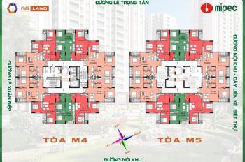 Cần bán CH chung cư Mipec Kiến Hưng - Hà Đông tầng 12 DT 50.9m2, giá bán 16.5tr/m2. LH 0904516638