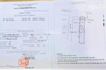 Bán nhà 45A đường Tân Chánh Hiệp 16, KP4, P. Tân Chánh Hiệp, Q12. DT 5.4m x 33.2m (179.6m2)