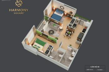 Suất ngoại giao, căn góc 2 phòng ngủ 75m2, 2 lô gia. Giá tốt nhất bảng hàng