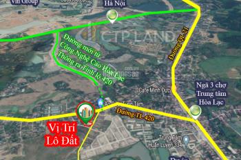 Chính chủ bán rẻ đất nền trên trục đường thẳng ra công nghệ cao Hòa Lạc, giá 800 triệu đường to 9m