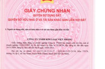 Chính chủ cần bán nhà xưởng 2 mặt tiền đường KCN Lê Minh Xuân, Bình Chánh