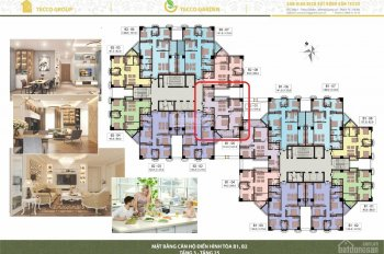 Bán gấp căn ngoại giao 2 ngủ - 3 ngủ Tecco Garden Thanh Trì - tầng 10 - 15 giá tốt nhận nhà ở ngay
