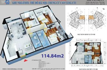 Chính chủ bán căn 114m2 dự án CT1 Yên Nghĩa Hà Đông giá chỉ 13tr/m2