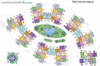 Bán CH ở Tecco Town Bình Tân, 2PN, 2WC, 63m2. 1 tỷ 670tr, lầu 10