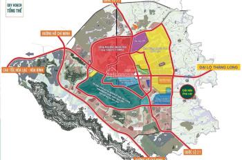 Đất nền Phú Cát sổ 87m2 giá 16.5 triệu/m2 đường trước nhà 13.5m nối thẳng TTTM Vincom & khu CNC