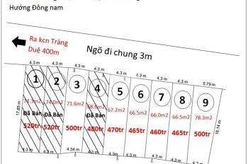Bán đất phân lô tại Tràng Duệ, Lê Lợi, An Dương, Hải Phòng