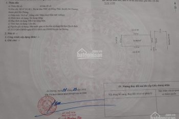 Bán lô đất giá rẻ nhất tái định cư Bạch Mai, Đồng Thái, An Dương. LH 0981.460.231